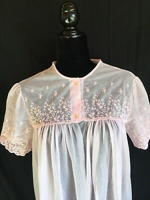 Vintage Gilead Peignoir Pink Sexy Sheer Robe, Size Large