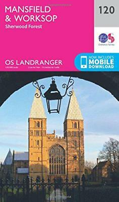 Landranger (120) Mansfield & Worksop, Sherwood Forest (OS Landranger Map) by Ord