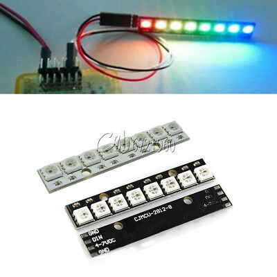 WS2812 5050 RGB LED Lamp Panel 5V 8 Bit 2812 Rainbow LED Precise for Arduino