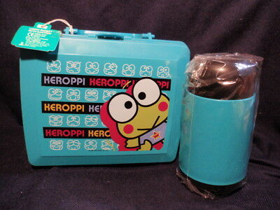 Sanrio Keroppi Plastic Lunch Box with Thermos 1996
