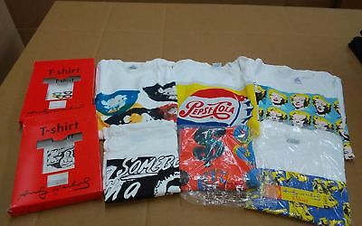 6 vtg Andy Warhol t-shirt XL Marilyn Monroe Lips Pepsi Cola NOS new originals