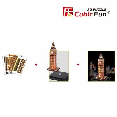 cubic fun 3d puzzle big ben elizabeth tower london england mit led beleuchtung eur 17 99. Black Bedroom Furniture Sets. Home Design Ideas