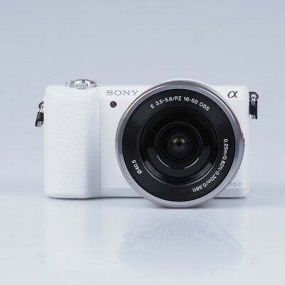 New Sony Alpha A5100 Mirrorless Digital Camera Kit with 16-50mm Lens White