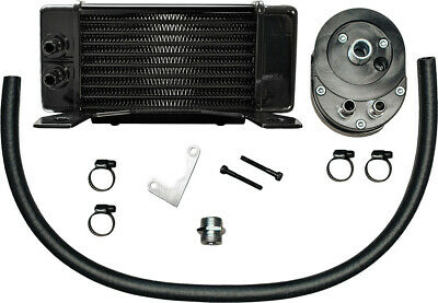 Jagg Oil Coolers Horizontal 10 Row Oil Cooler Black Low Mount 750-2300