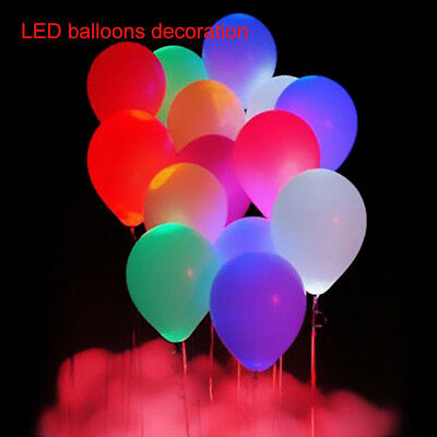 Bulk 48Pcs LED Balloons 23cm/9'' Light Up Party Wedding Birthday Decoration