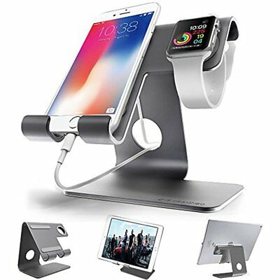 Universal 2 In 1 Aluminium Desktop Charging Stand For IWatch, Smartphone Tablets