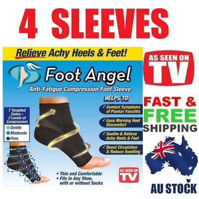 2Pairs Foot  Angel Compression Sleeve Anti-Fatigue for Plantar Fasciitis Relief