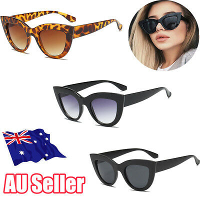 Luxury Ladies Womens Oversized Cat Eye Sunglasses Vintage Style Retro Shades ON