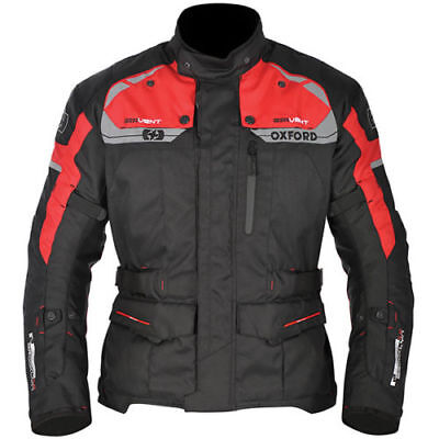 Oxford  Motorcycle Waterproof Brooklyn Textile Jacket - Black / Red RRP £129.99