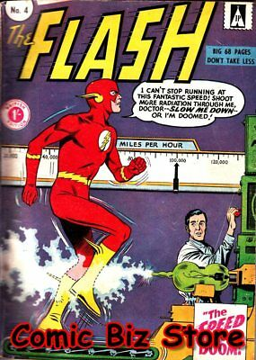 Flash #4 (1959) 1St Printing Scarce British Silver Age Strato/dc