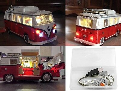 NEU! LED Light Licht Kit für for Lego Volkswagen T1 Campingbus VW Bus (10220)
