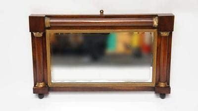 Small Victorian Rosewood overmantle  mirror 70x44 cm, distressed, good colour