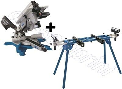 230V Table Mitre Saw 254 Mm 1800W Scheppach Hm100T + Leg Stand Umf1600