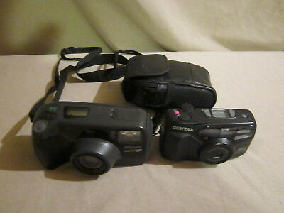 Lot of Two Pentax Cameras,  IQZoom EZY-R, and Zoom 90-WR,  35mm, Untested