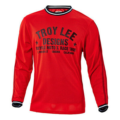 Troy Lee Designs Super Retro Mens Bicycle Jersey Red/Black MD