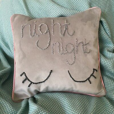 Night Night Cushion Nursery Decor
