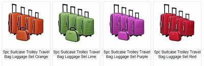5pc Suitcase Trolley Travel Bag Luggage Set wheelie bags bulklot new