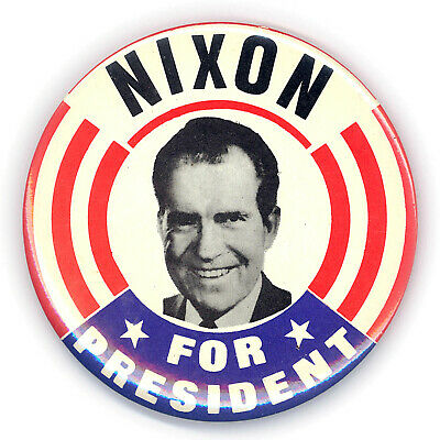 "Great  ~ "" NIXON FOR PRESIDENT "" ~ 1968 Presidential Campaign Button"