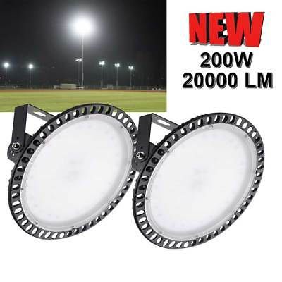 2 x200W UFO LED High Bay Light Warehouse Industrial Commercial Lamp US Stock
