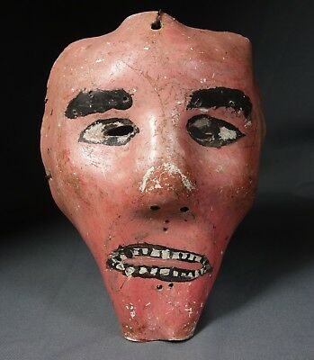 Hand carved Vintage Judas Ceremonial Dance Mask from Guatemala