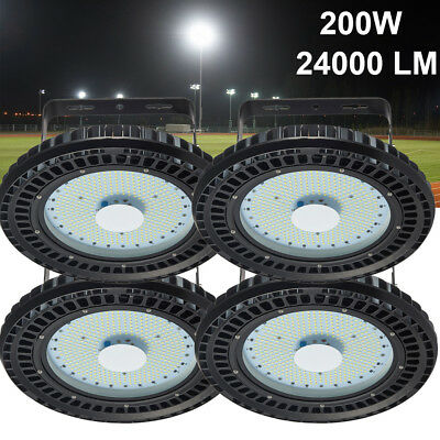 4 x200W UFO LED High Bay Light Warehouse Industrial Lamp Factory Light US Stock