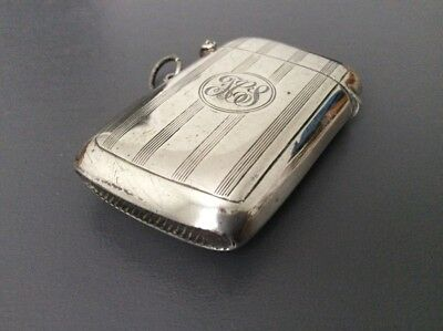 Antique Sterling Silver Vesta Case / Match Safe / Hallmarked