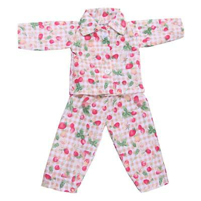 Dolls Pajamas Sleepwear Clothes Fit 18'' Our Generation American Girl Doll#E