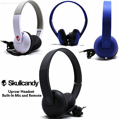 Skullcandy Uproar On ear Headphones with Built In Mic White Black Blue NEW