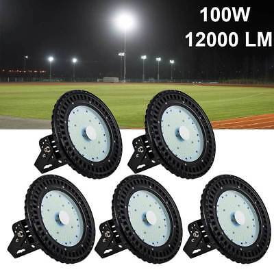 5 x100W UFO LED High Bay Light Warehouse Industrial Lamp Factory Light US Stock