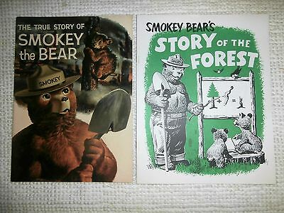 Vintage The True Story Of Smokey The Bear & Smokey Bears Story Of The Forest