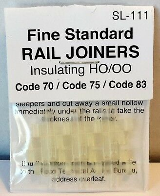 Peco SL-111 Insulating Rail Joiners HO/OO Scale 'Code 70/75/83'
