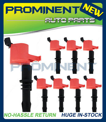 8 Pack RED Ignition Coil On Plug DG511 For 04-08 Ford F-150 Expedition 4.6L 5.4L