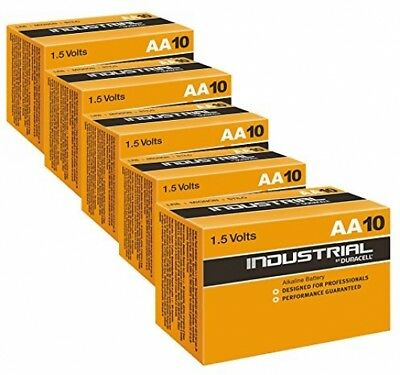 50X Duracell Industrial AA Batteries Alkaline 1.5V LR6 MN1500 Replaces Procell