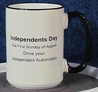 Independents Day - Gremlin on a 15 oz Coffee Mug with Black Handle & Rim