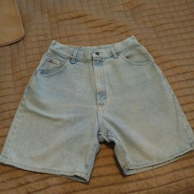 Vintage 80's Faded Lee Baggy Mom Jean Shorts Size 14-Small Waist