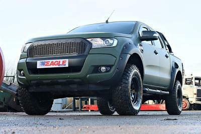 Ford Ranger Ant. Mascherina Upgrade Nero Raptor Stile Griglia in Rete 2016 On