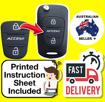 Hyundai Accent 2 Two Button Remote Key Repair Rubber Pad