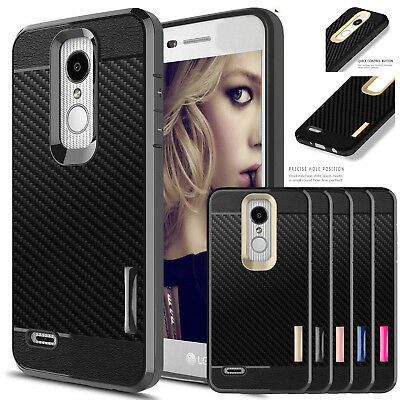 For LG Aristo 2/Rebel 4/Tribute Dynasty Phone Case Cover+ Glass Screen Protector