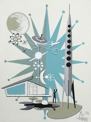 El Gato Gomez Retro Googie Rocket Sci-Fi 1950'S Mid Century Mod Abstract Atomic