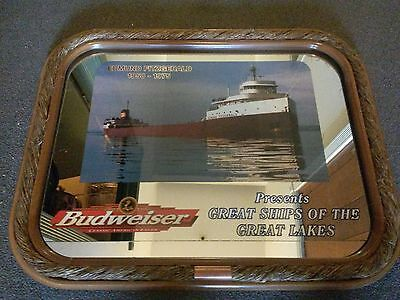 """Budweiser  Great Ships Of The Great Lakes  4pc set  """"FREE Shipping"""""""