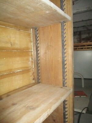 "Victorian Adjustable 5 shelf Pine Bookcase 87""x 34"" x 11"" approx."