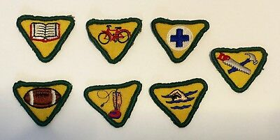 BOY SCOUTS (Wolf Cub) Vintage activity MERIT PATCH LOT for Sash or Uniform 1970s