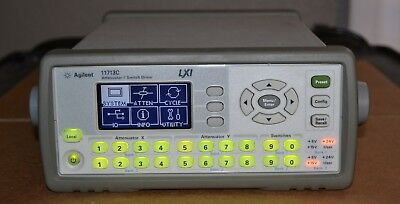 Agilent Keysight 11713C Attenuator/Switch Driver, LXI, 5V/15V/24V, Guaranteed