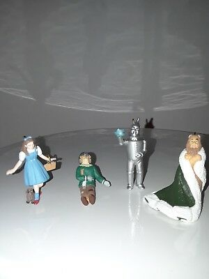 Hallmark 1997 Wizard Of Oz King Of The Forest Mini Set Of 4 Christmas Ornaments