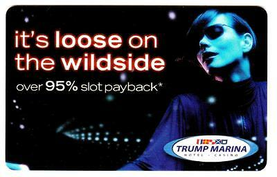DONALD TRUMP MARINA casino*IT's lOOSE ON THE WILDSIDE* Slot/Players card