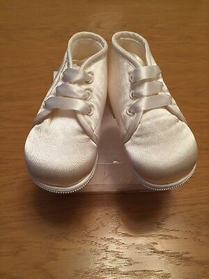 *NEW* Boys IVORY Occasional Satin Lace Boots By Early Days (UK2 6-12 Mth) £22