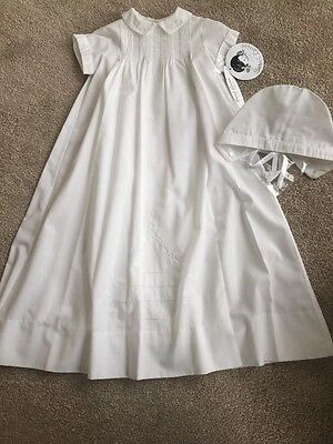 BNWT Unisex Simple Christening Set By Sarah Louise Style 112 (3 Mths) RRP £71