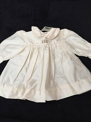 BNWT Girls SILK Cream Occasional Dress By DIMPLES (3 Mths) *FREE UK P&P*