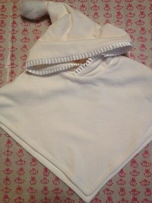 BNWT Unisex Ivory Christening Poncho By Little Darlings (12 Mth) Style P4241