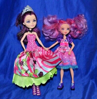 Ever After High Dolls : Raven Queen & Princess Malucia Lot of 2